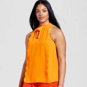 Victoria Beckham for Target marigold bow tank NWT